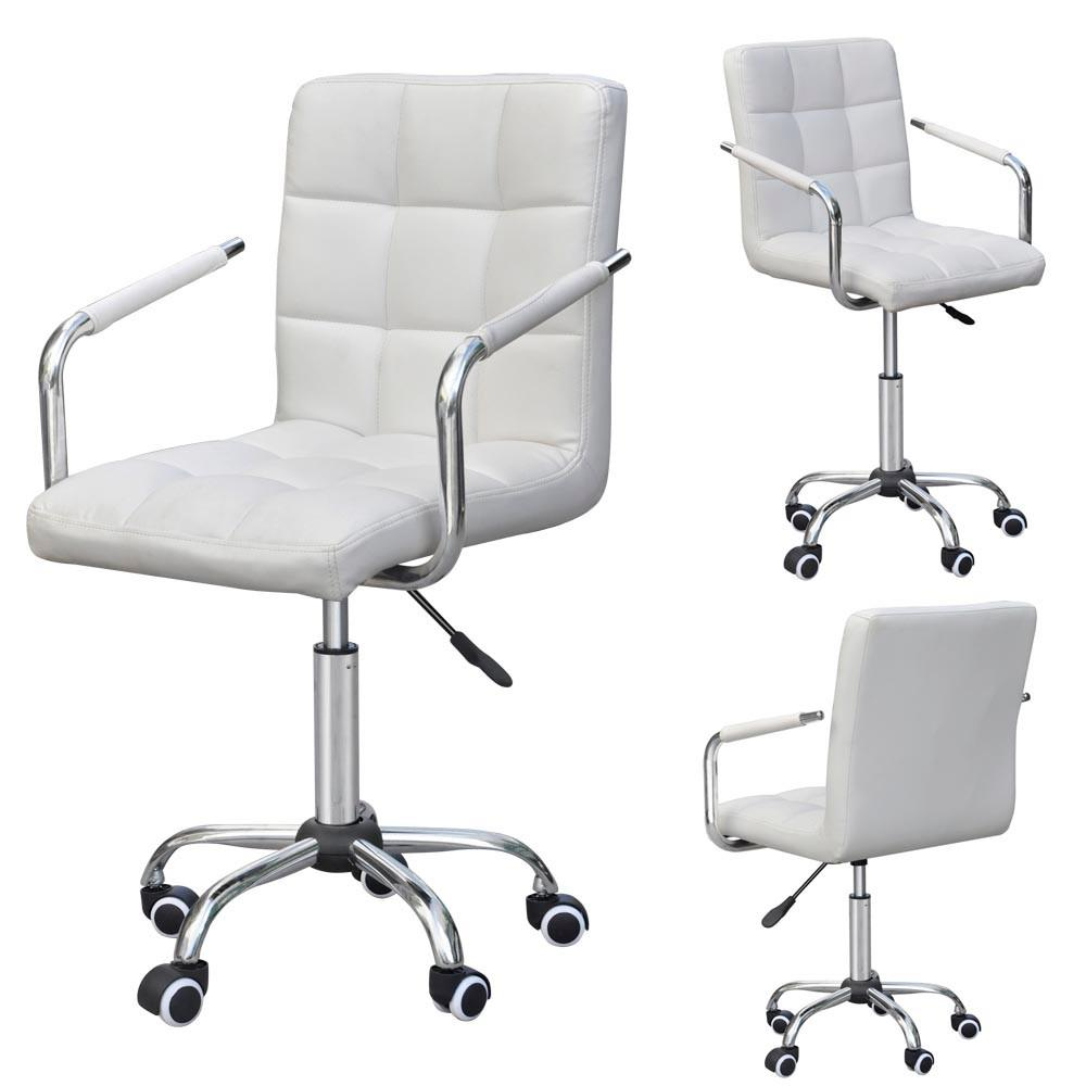 white rolling chair cover hire belfast chairs yaheetech modern ergonomic swivel leather office computer executive home furniture on