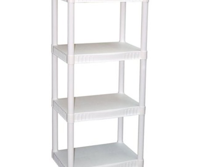 Plano  Tier Heavy Duty Plastic Shelves White