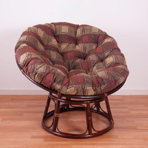 circular bamboo chair cushion giant bean bag lounger amazon papasan cushions blazing needles chenille
