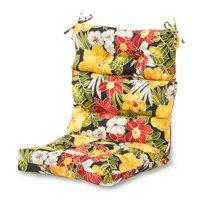 cheap chair cushions outdoor blue folding covers walmart com product image greendale home fashions aloha floral high back cushion