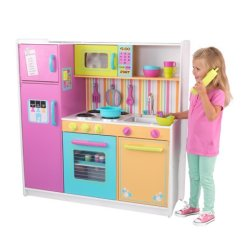 Kid Craft Kitchen Apple Valley Cabinets Kidkraft Deluxe Big And Bright Walmart Com