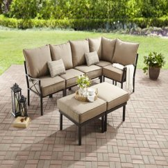 Walmart Sofas And Sectionals Sofa Bed Manufacturers Sydney Mainstays Sandhill 7 Piece Outdoor Sectional Set Seats 5 Com