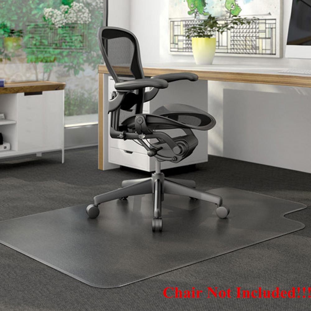 chair mat for hardwood floors indoor rattan cushions hard floor mats ktaxon pvc matte desk office protector wood 48 x