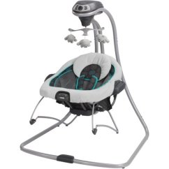Baby Swing Vibrating Chair Combo Fishing Game Graco Duetconnect And Bouncer Bristol Walmart Com