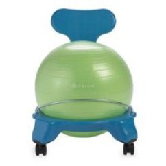 Bouncy Ball Chair Vintage Salon Chairs Exercise Active Sitting Walmart Com Product Image Gaiam Kids Balance Blue Green