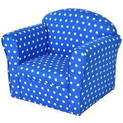 Folding Chair Beds Foam 2 V Rocker Gaming Cables Kids Flip Sofas Costway Blue W Dots Kid Sofa Armrest Couch Children Living Room Toddler Furniture