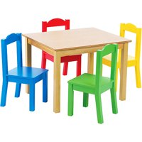 table and chairs for kids gray white chair sets walmart com product image tot tutors wood 4 set multiple colors