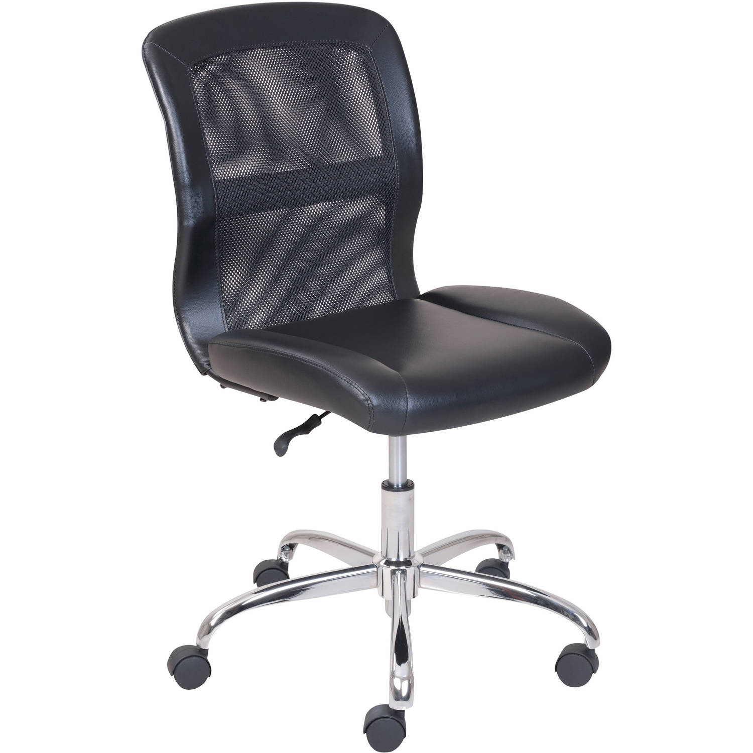 white rolling chair tall back chairs mainstays vinyl and mesh task office multiple colors