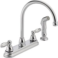 kitchen faucets with sprayer pot racks for walmart com product image peerless two handle faucet side chrome p299575lf