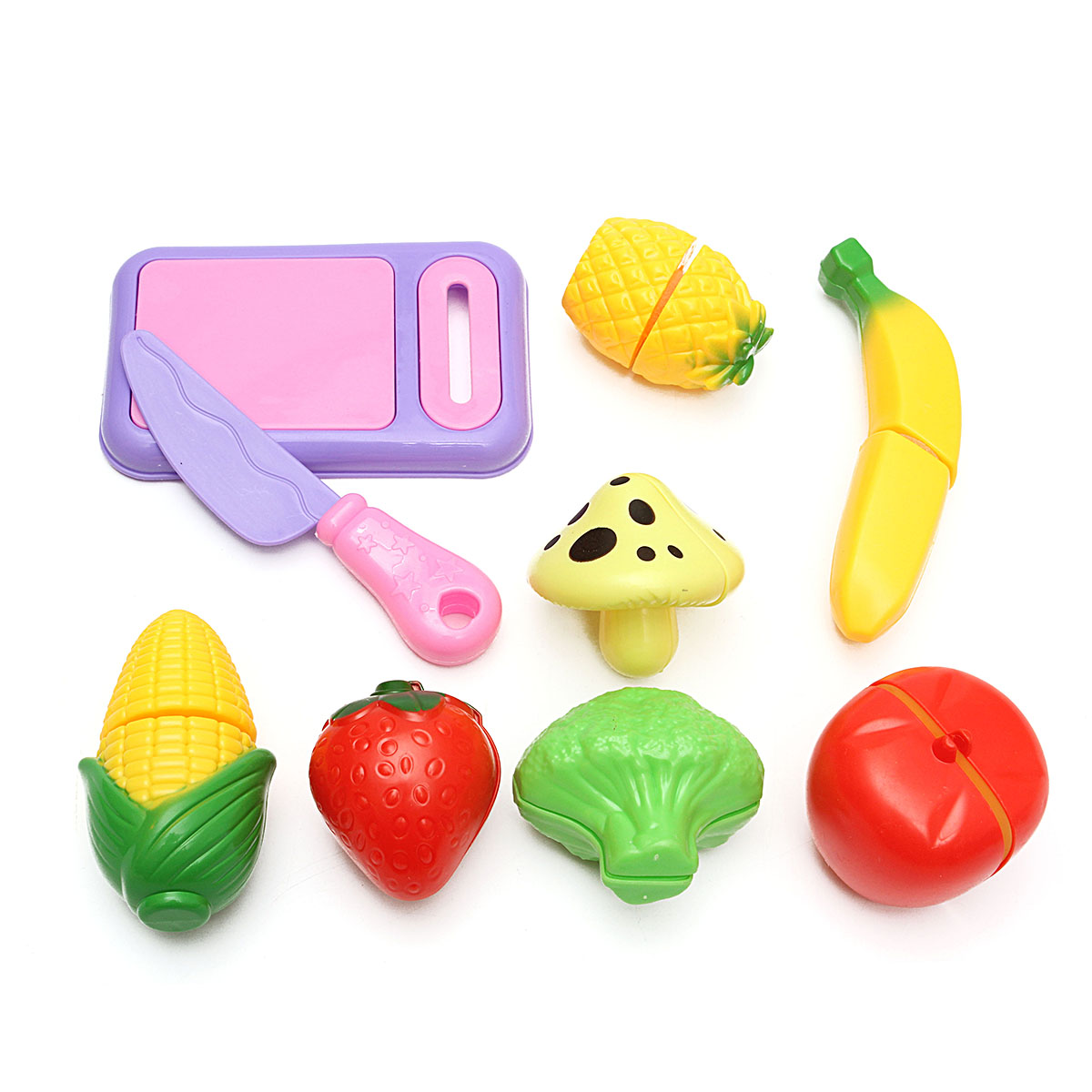 kids kitchen toys ranges sets pretend food play set for cutting fruits and vegetables 9piece