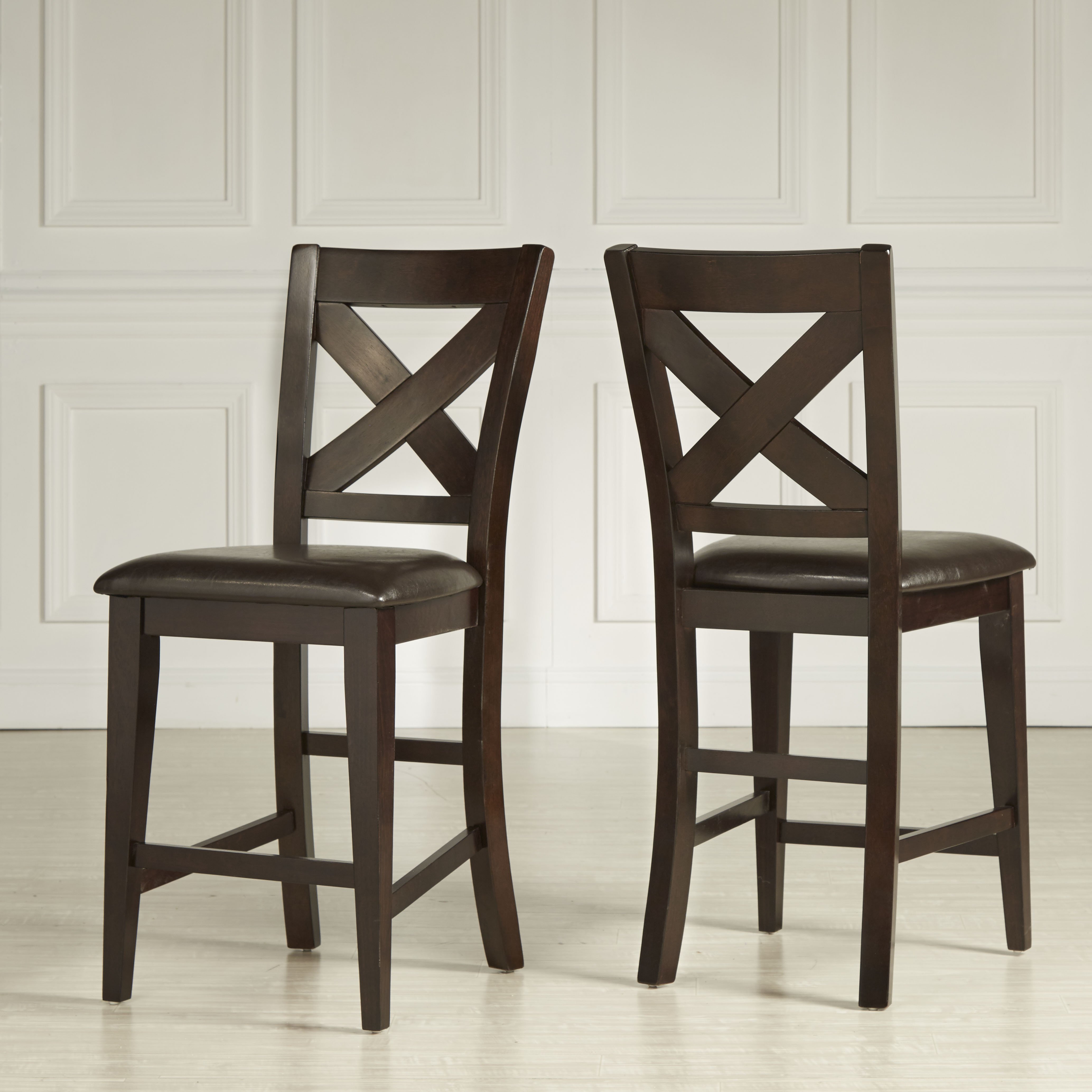 counter height chair revolving manufacturers in ahmedabad chairs weston home set of 2 warm merlot
