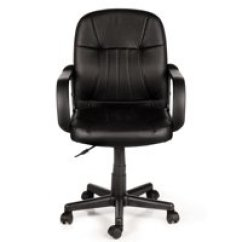 Black Leather Desk Chairs Kevi Chair Office Walmart Com Product Image Comfort Products 60 5607m Mid Back