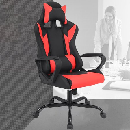 office chair with adjustable arms screw on glides gaming racing ergonomic high back leather reclining computer desk