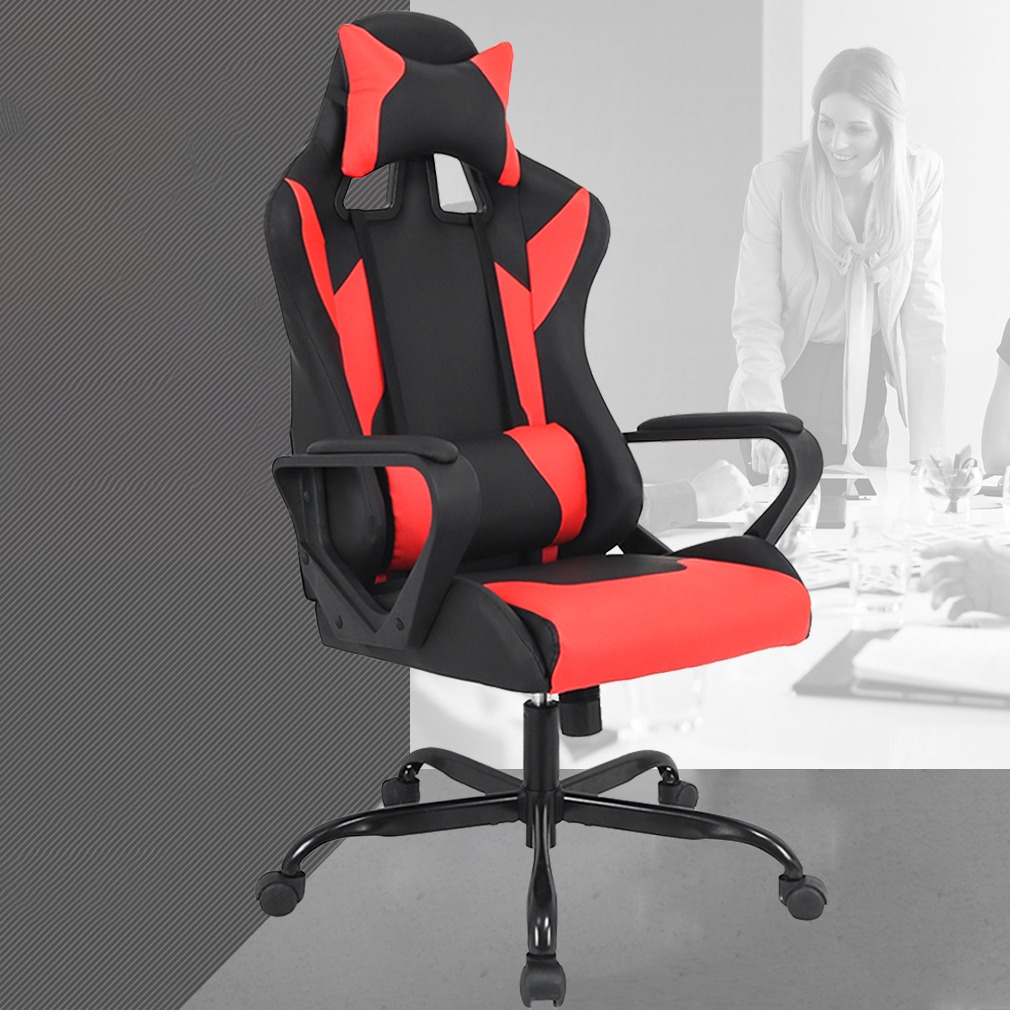 revolving chair without wheels covers for weddings rentals lumbar support computer chairs gaming racing office ergonomic high back leather reclining desk