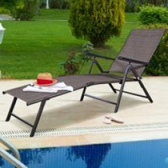 Poolside Lounge Chairs Chair Covers For Hire Nz Outdoor Chaise Lounges Walmart Com Product Image Costway Pool Recliner Patio Furniture Adjustable