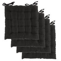 black chair pads ikea kids rocking walmart com product image dream home set of 4 indoor inches square tufted seat cushions pillows variants selector