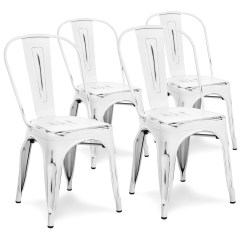 Industrial Metal Chairs Quincy Swivel Chair Best Choice Products Set Of 4 Distressed Dining Side White