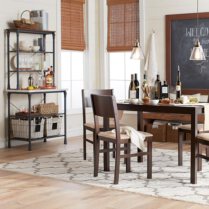 kitchen chairs wood camo computer chair dining furniture walmart com rustic decor
