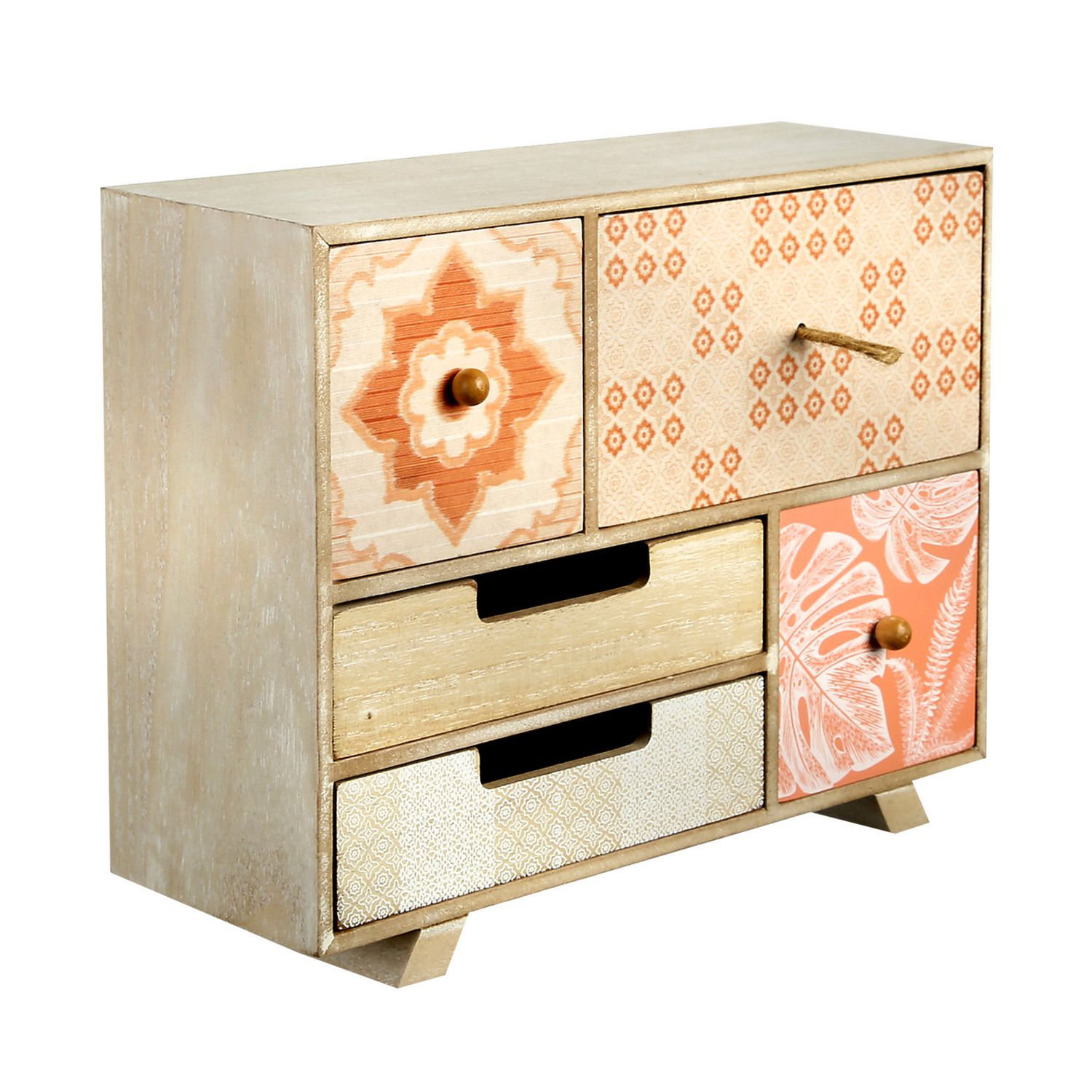 sunset beach by hometrends 5 drawer tabletop storage unit