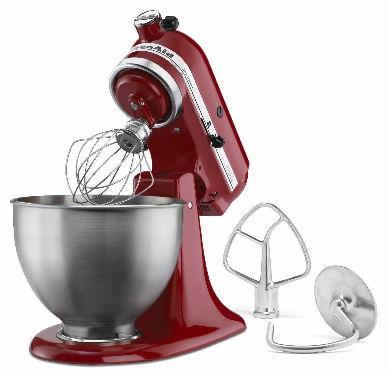 red kitchen aid mixer unfinished cabinets home depot kitchenaid 300 watts ultra power stand walmart canada