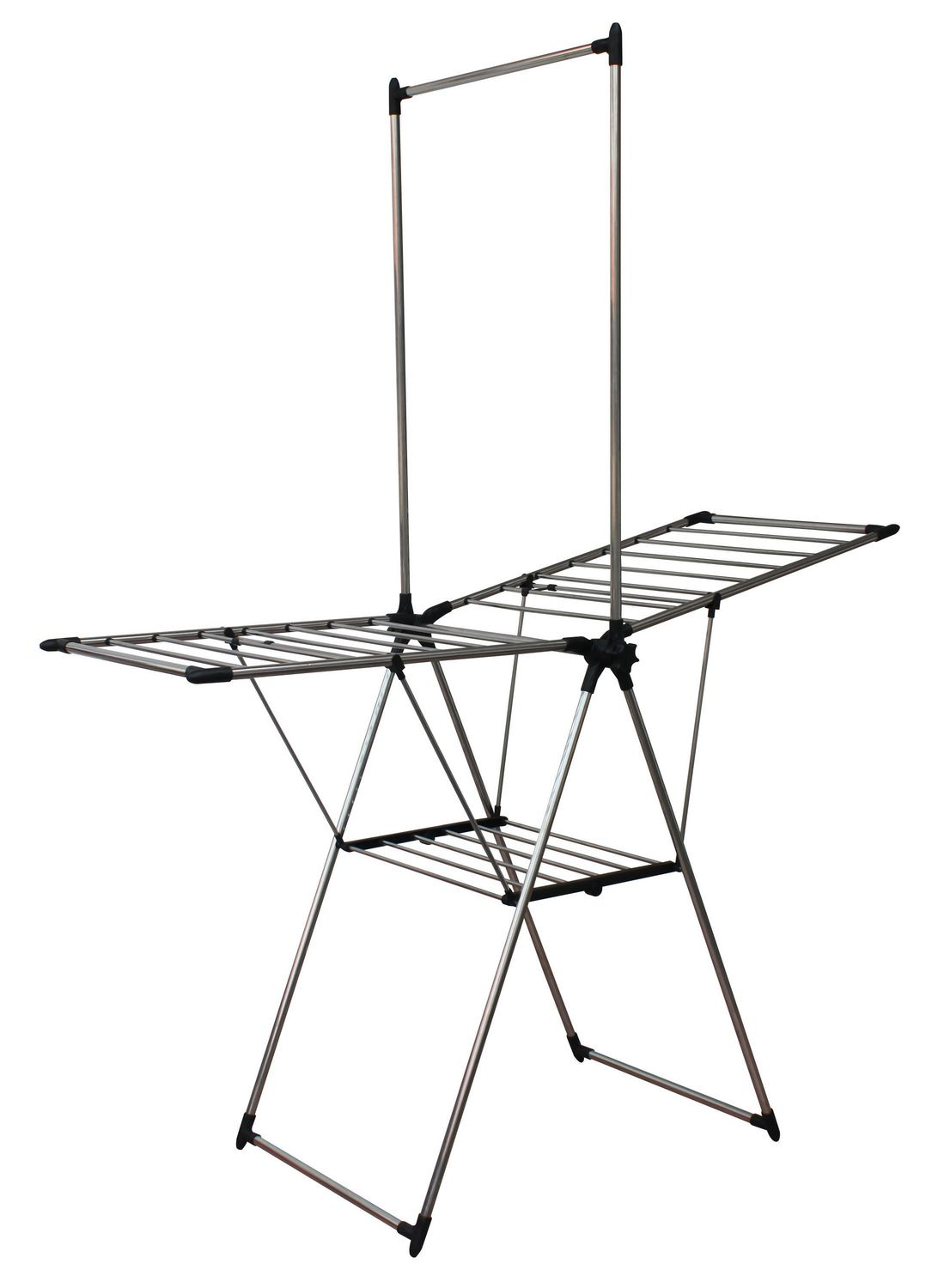 Mainstays Stainless Steel Drying Rack With Hanging Bar