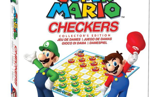 Super Mario Checkers Board Game Bilingual Walmart Canada