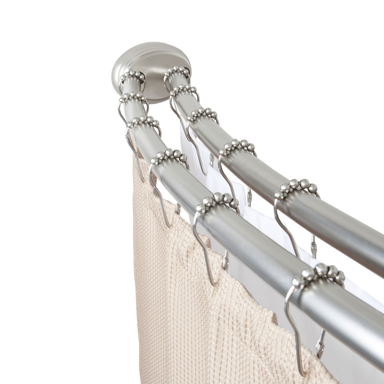 tringle a rideau de douche incurvee double reglable smart rods de mainstays nickel brosse
