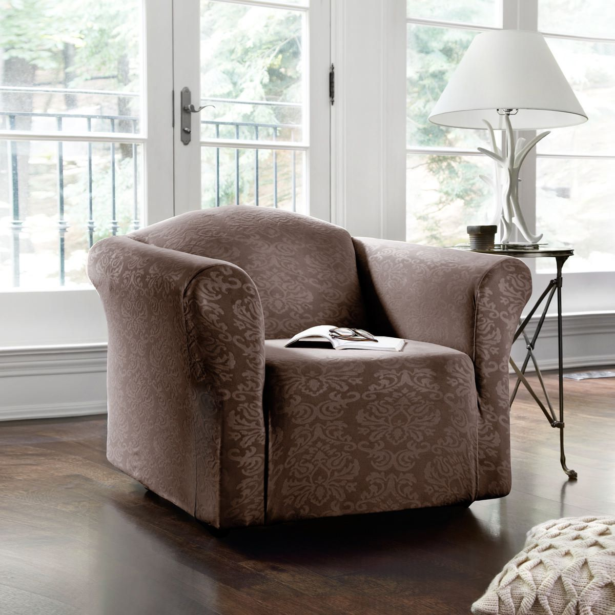 Damask Chair Surefit Damask Stretch Chair Slipcover