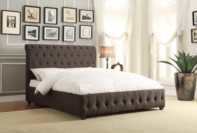 topline home furnishings upholstered king bed