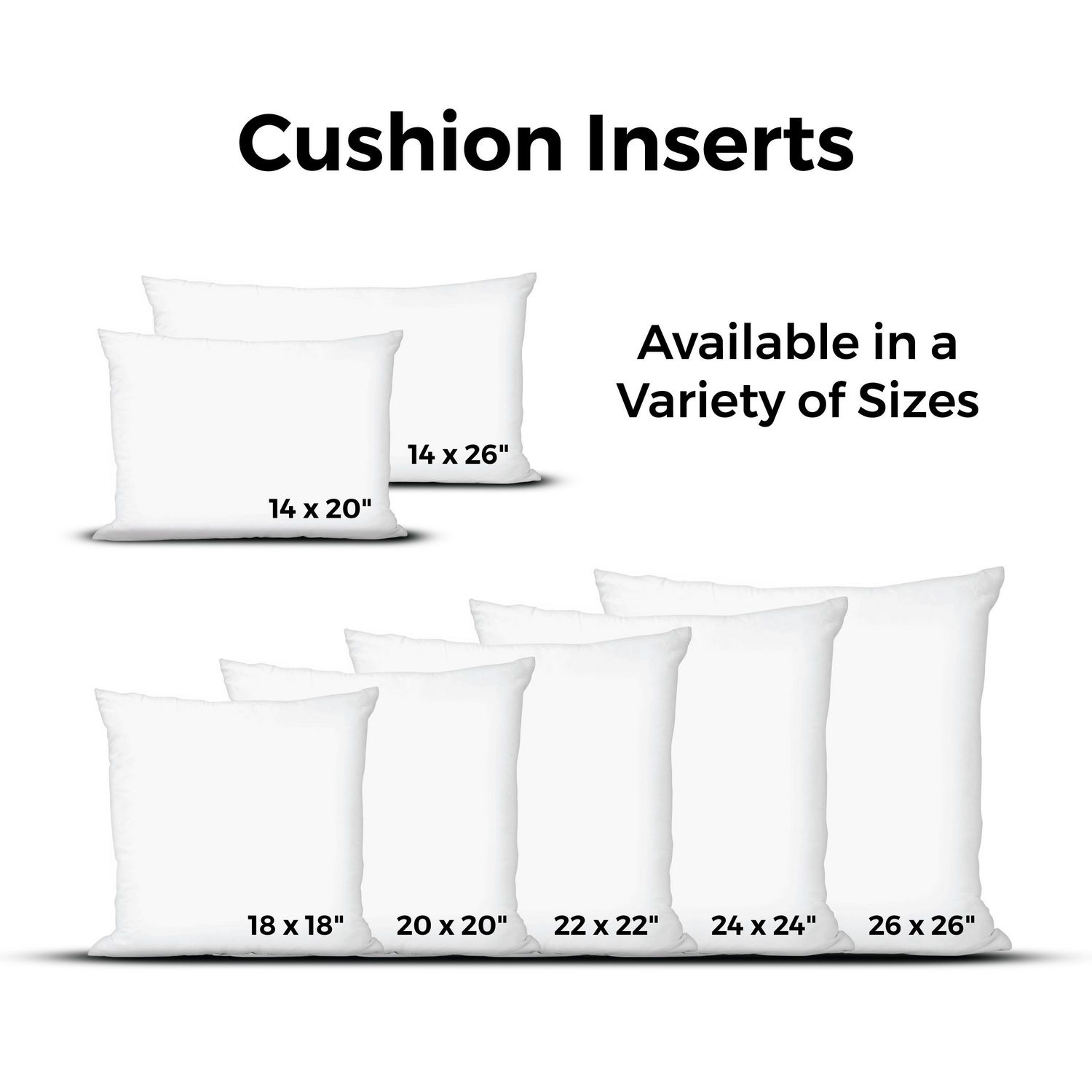 polyester replacement pillow insert 14 x 20