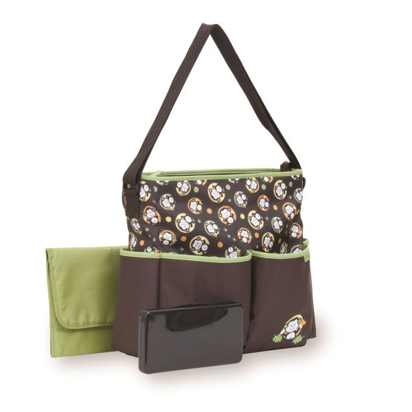 Baby Boom Deluxe Monkey Tote Diaper Bag With Wipes Case Canada