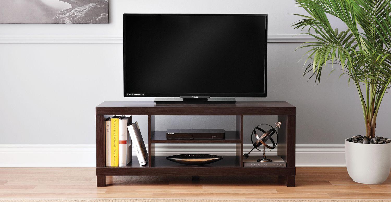 meuble de television de centre creux de hometrends en espresso