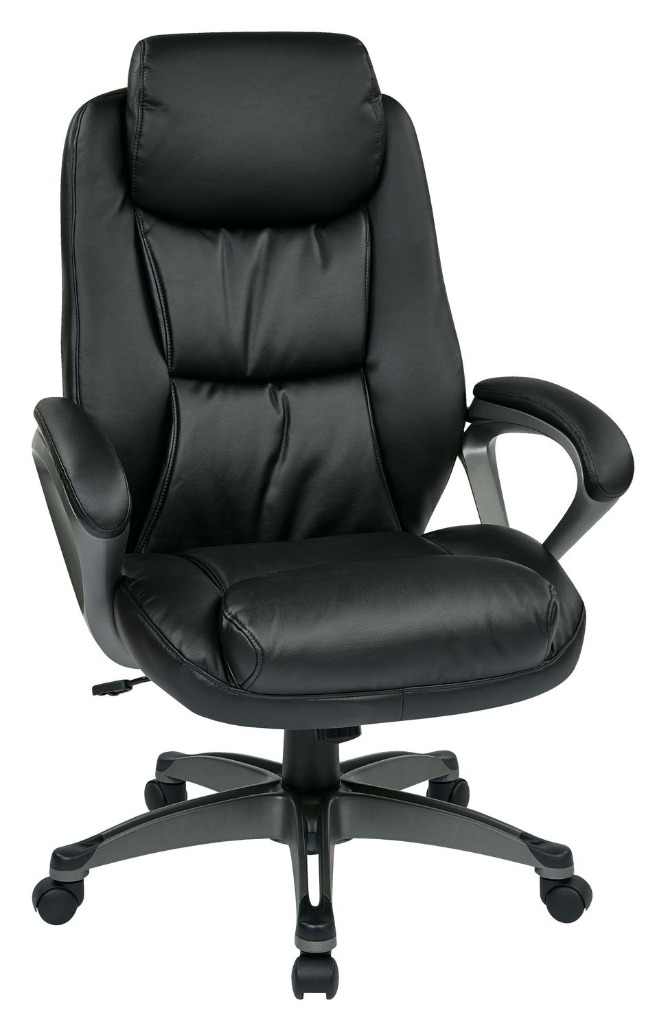 Executive Leather Chair Work Smartblack Executive Bonded Leather Chair With Padded Arms