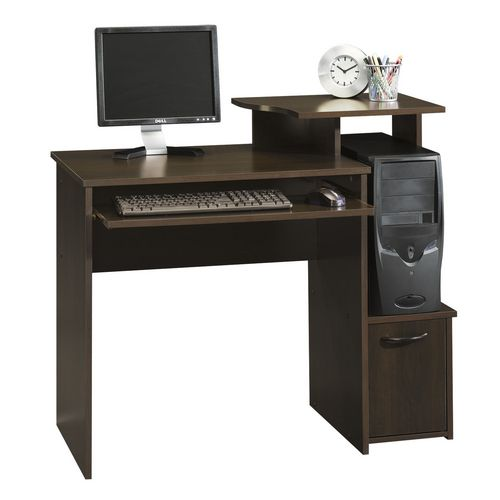bureau d ordinateur sauder beginnings finition merisier cannelle 408726