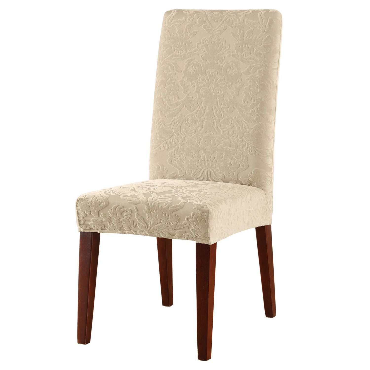 Damask Chair Sure Fit Jacquard Damask Stretch Dining Chair Slipcover