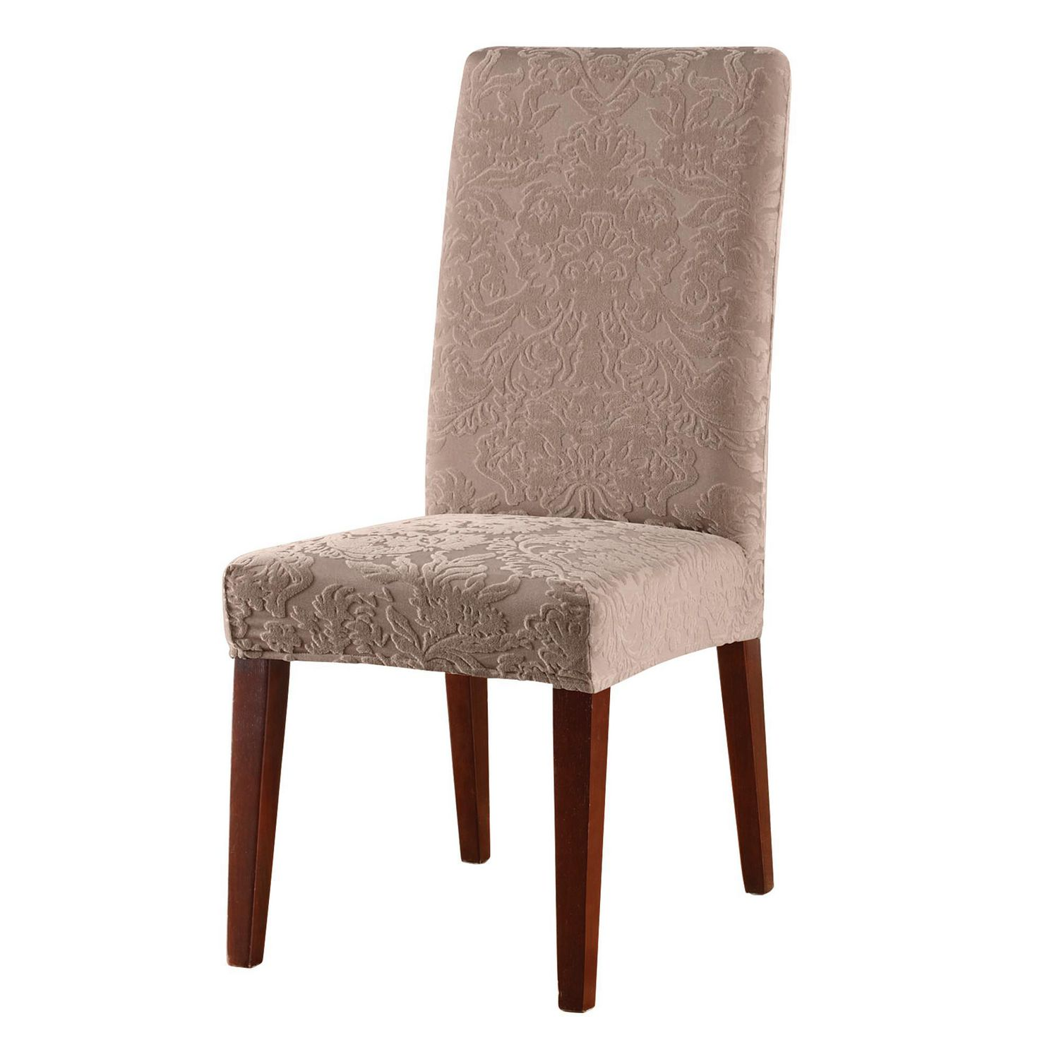 Dining Chair Slipcover Sure Fit Jacquard Damask Stretch Dining Chair Slipcover