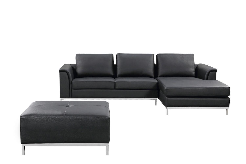 leather sectional sofas white chesterfield sofa living room velago ollon black walmart canada