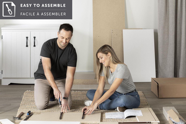 lit mezzanine simple avec bureau 39 tiara blanc de meubles south shore