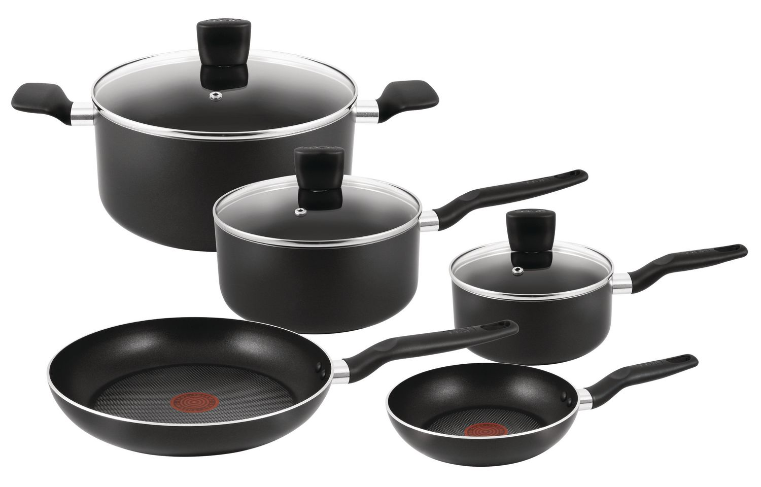 kitchen pan set lowes faucets delta t fal start up 8 piece cookware walmart canada