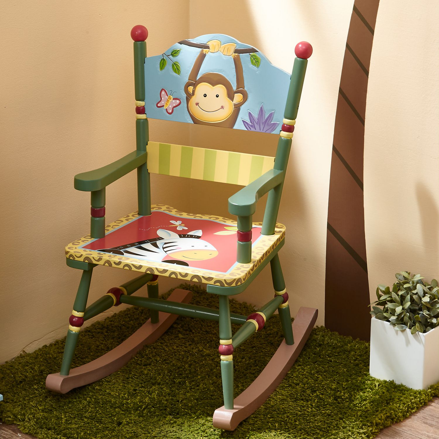 Kids Rocking Chairs Fantasy Fields Sunny Safari Kids Rocking Chair