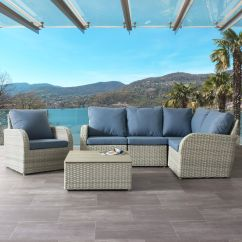 Outdoor Sofas Brisbane Black Sofa Set Philippines Corliving Weather Resistant Resin Wicker 6pc Sectional Patio Walmart Canada