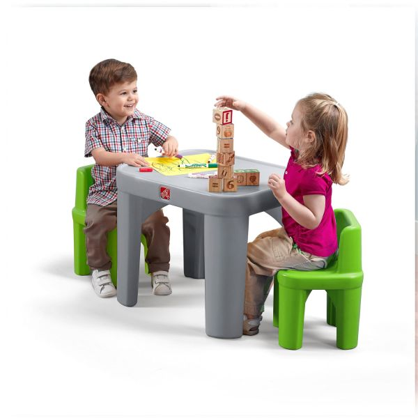 Step 2 Table And Chair Set & Step2 Traditions Kids#039; 3 Piece Sc 1 St