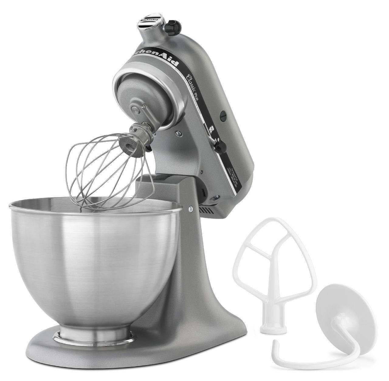 kitchen aid silver small space table kitchenaid 275w ksm75sl classic plus stand mixer