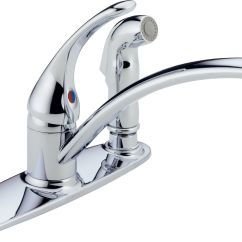 Faucets Kitchen Kitchens Direct Peerless Chrome Single Handle Faucet With Spray Walmart Canada