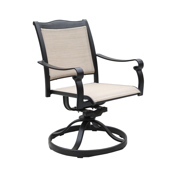 devon swivel patio dining chairs 2pcs