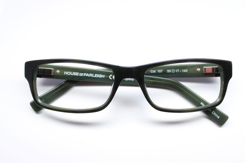 House of Farley Men's HOF-06 107 Green Eyeglasses ...