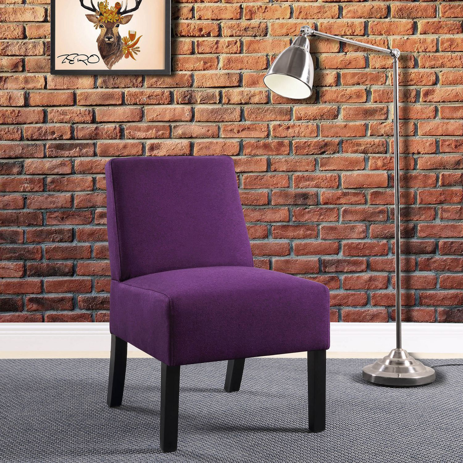 Purple Accent Chair Worldwide Homefurnishings Inc Compact Accent Chair Purple