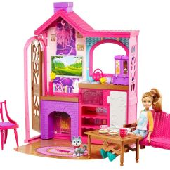 Barbie Kitchen Playset White Cabinets Lowes Camping Fun Cabin Walmart Canada