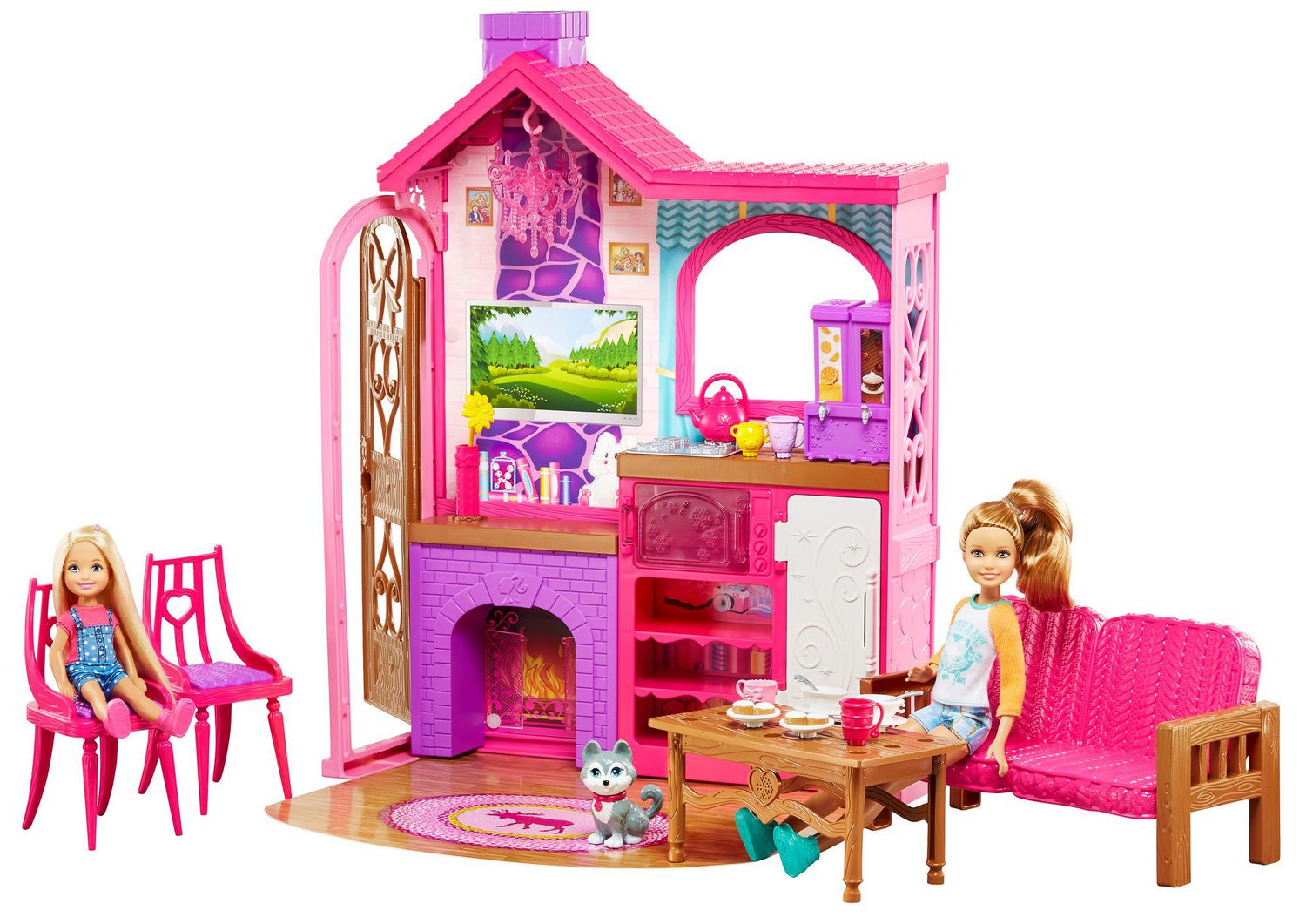barbie kitchen playset cheap table sets for sale camping fun cabin walmart canada