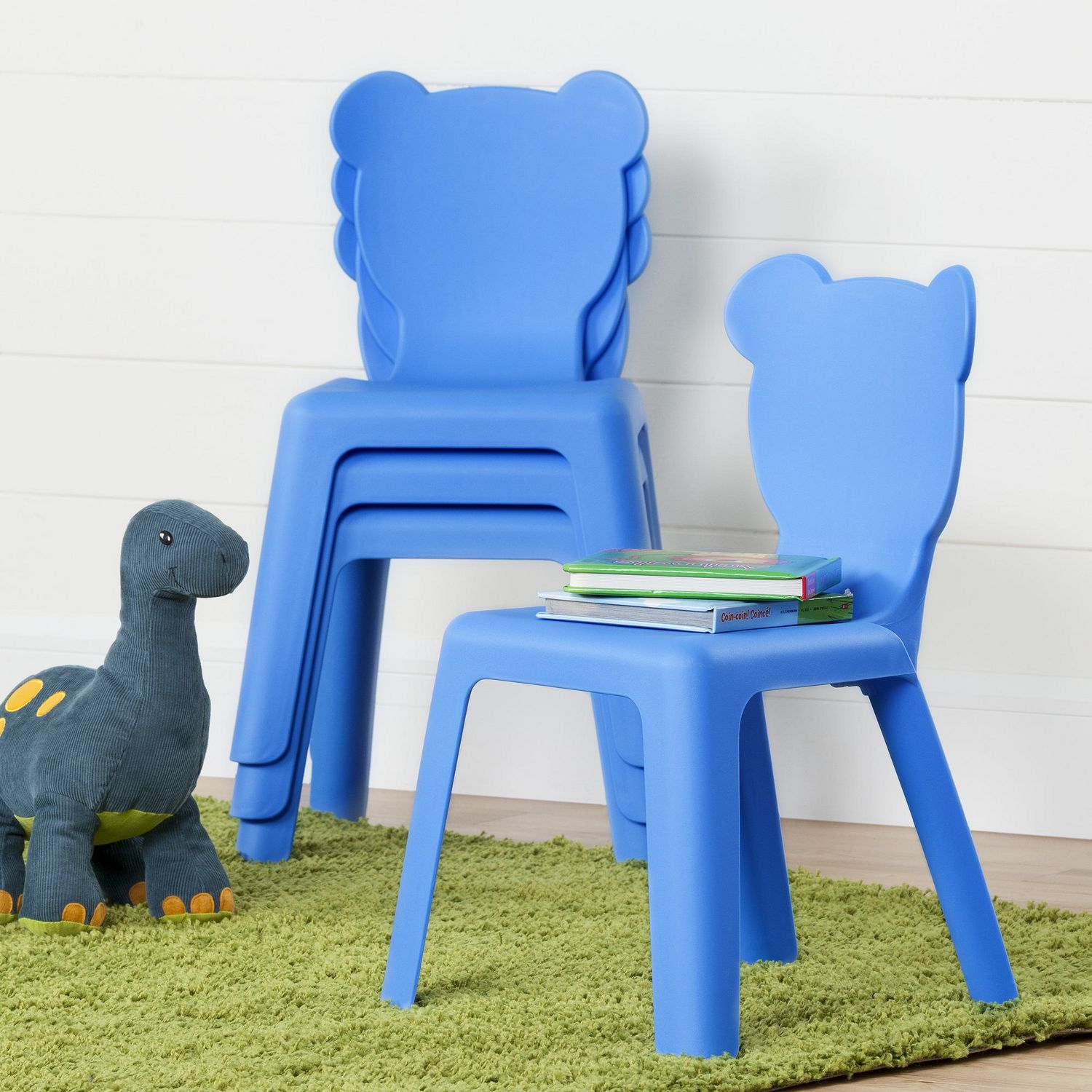Plastic Kids Chairs South Shore Crea Kids Plastic Stacking Chairs 4 Pack